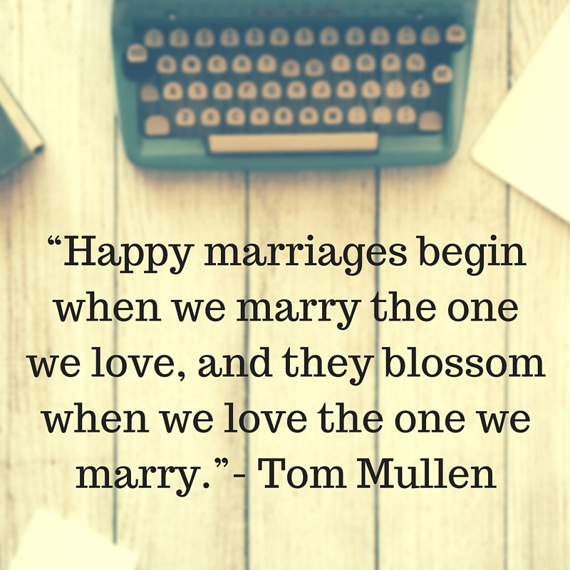 love the one you marry