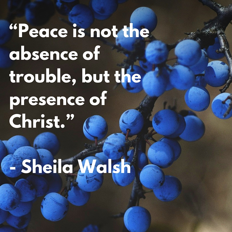 Peace is the presence of Christ