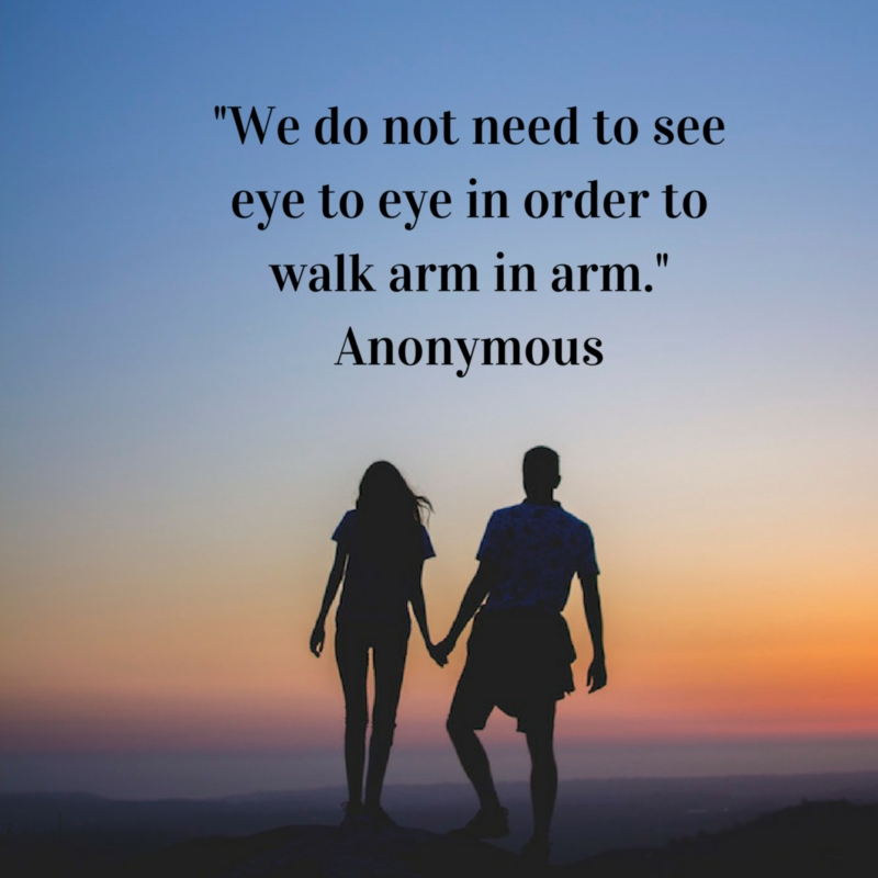 seeing eye to eye with your spouse