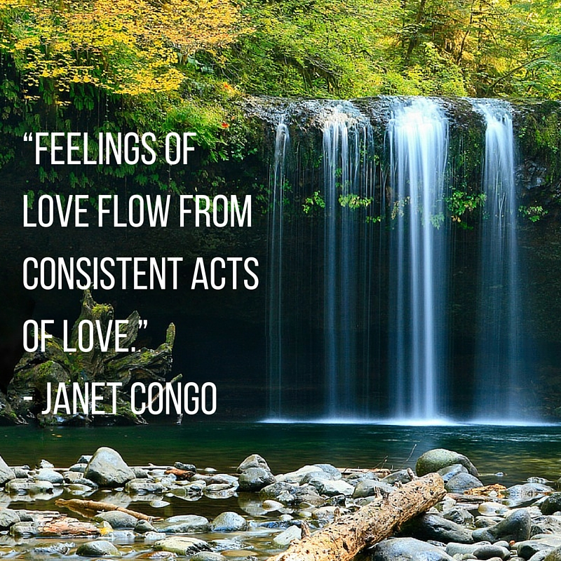 feelings flow from acts