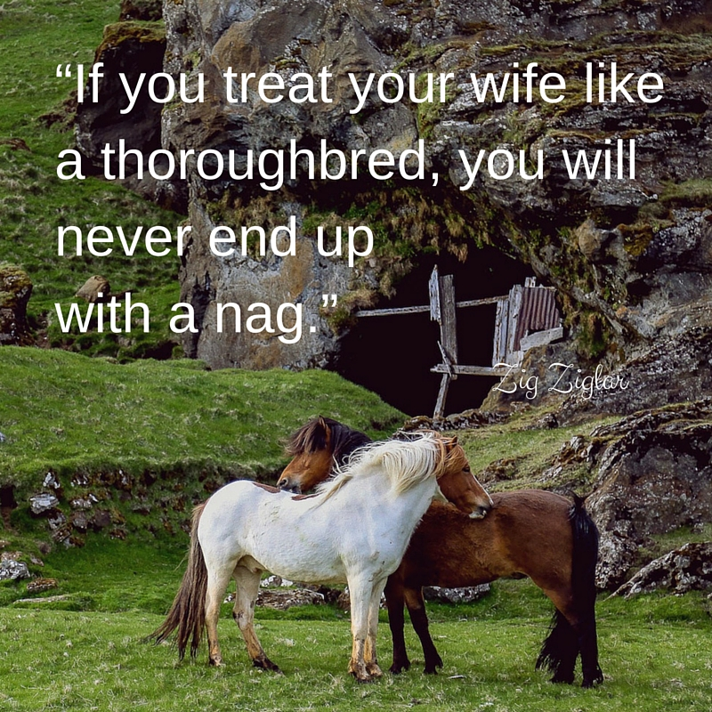 don't treat your wife like a nag