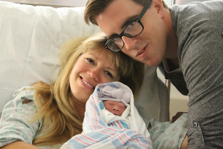 Baby Abigail and family